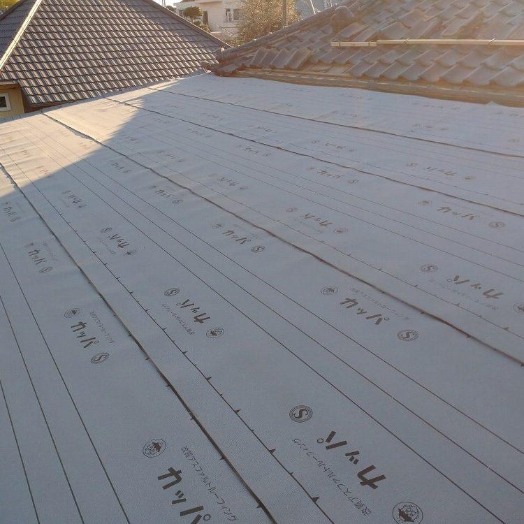 稲敷市,平葺き屋根解体・立平ロック屋根工事