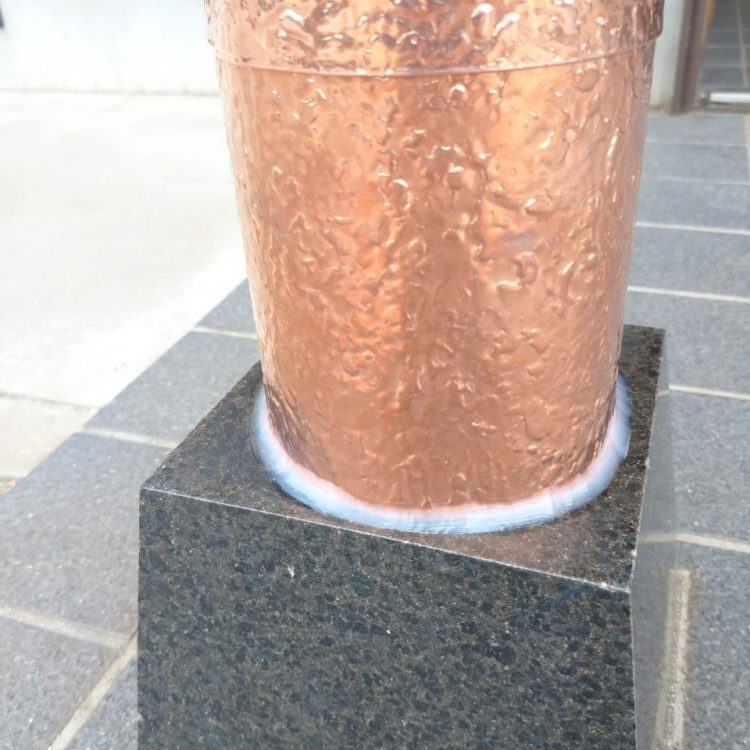 茨城県 柱根元 銅補強