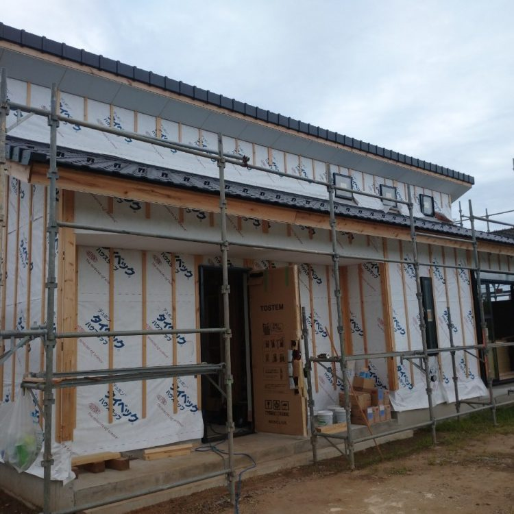 茨城町 新築外壁工事、雨樋工事